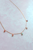 Dainty Pastel Stone Necklace
