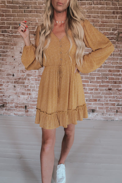 Basic Boho Long Sleeve Dress