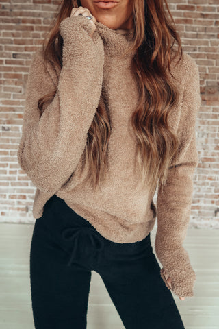 The Mitzie Sweater. Super soft and cozy mock neck sweater.