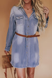 Chambray button front dress.