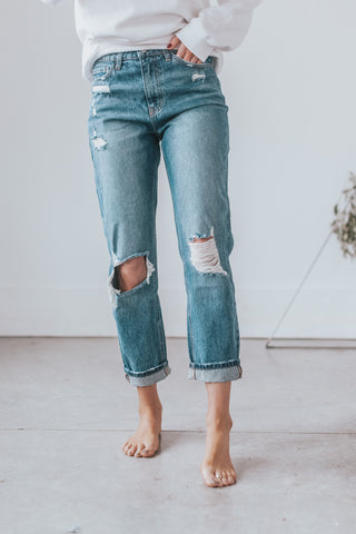 Chloe Distressed Mom Jean