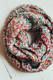 Loom Woven Knit Infinity Scarf - Pink