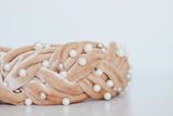 Velvet Pearl Braided Headband