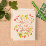 Antiquaria - Sweet Strawberries Greeting Card