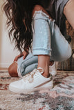White Rose + Snake Sneakers