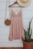 Boho lace crochet front dress.