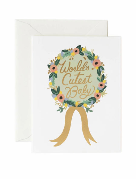 Rifle Paper Co. World's Cutest Baby Award Greeting Card