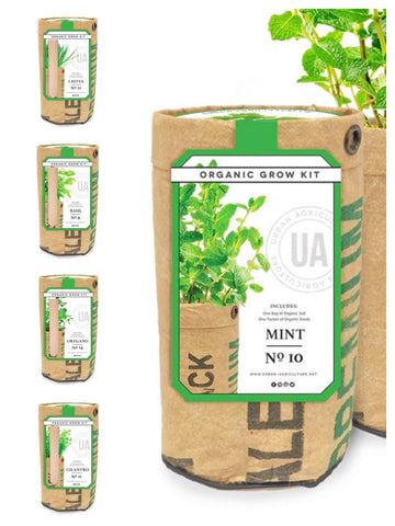 Urban Agriculture Organic Herbs Grow Kit
