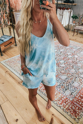Tie Dye Cami Top & Shorts Set
