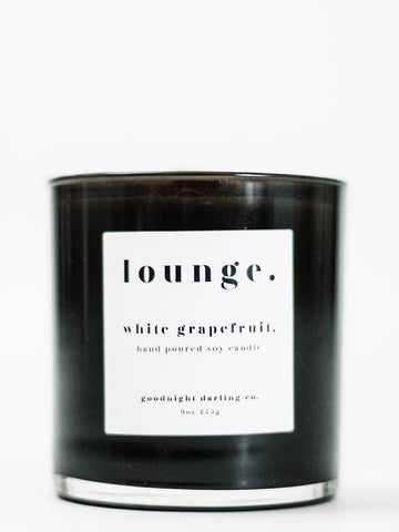 Goodnight Darling Co. White Grapefruit Wooden Wick Candle