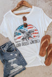 God Bless America graphic tee.