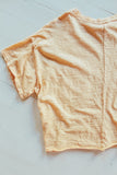 Vintage Washed Oversized Pocket Tee - Cantaloupe