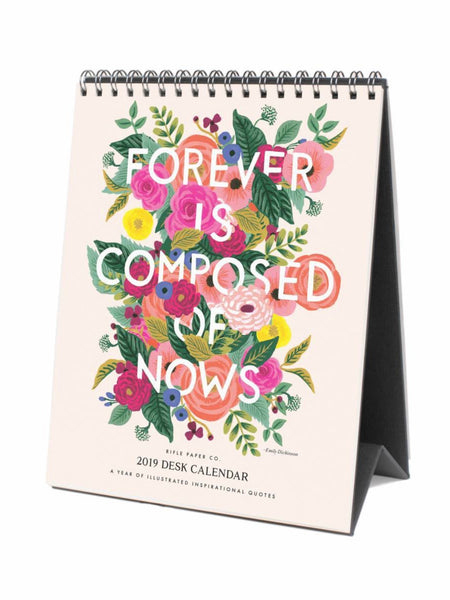Rifle Paper Co. 2019 Inspirational Quote Desk Calendar