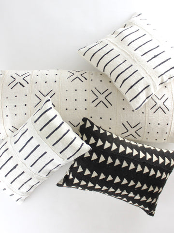 The Neutral Throw Pillow Collection black
