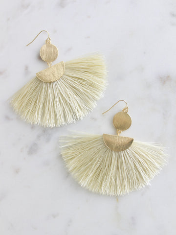Love AO Tassel Disc Earrings