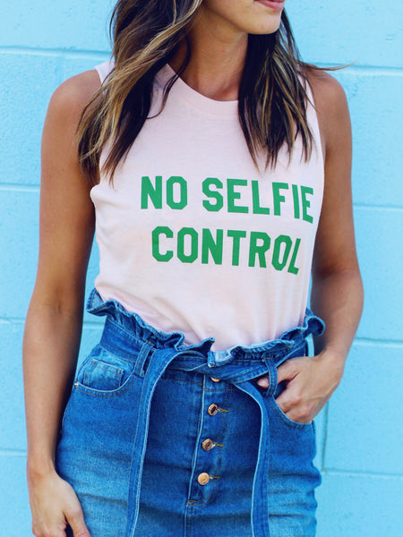 No Selfie Control Muscle Tank