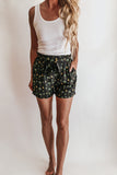 High Rise Palm + Pineapple Shorts
