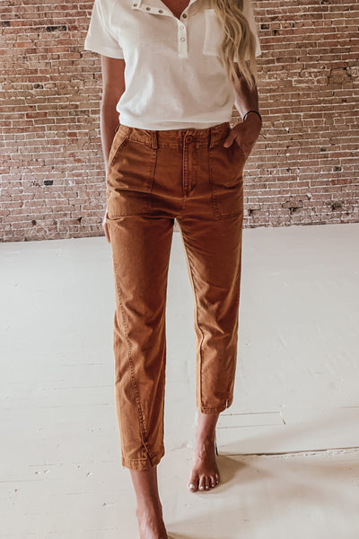 High Waisted Taper Pant