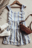 Blue and white pinstripe sundress.