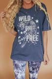 Wild and Free Tiger Distressed Graphic Tee