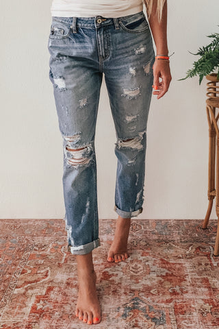 Relaxed fit KanCan jeans.