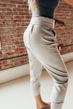 High Waisted Double Seam Joggers
