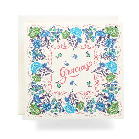 Antiquaria - Handkerchief Gracias Greeting Card