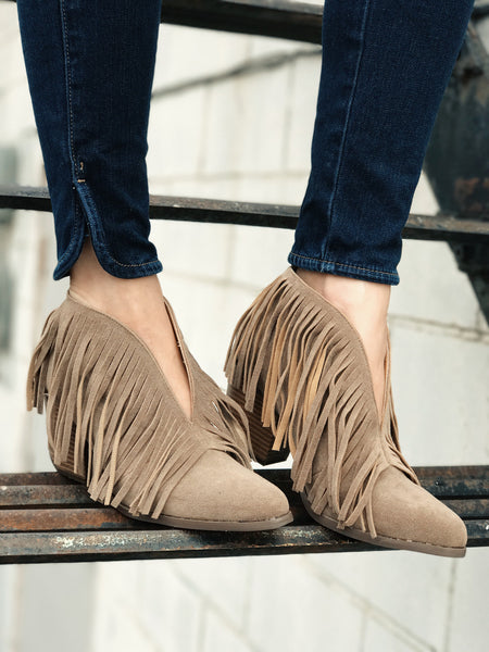 Lakota Fringe Booties