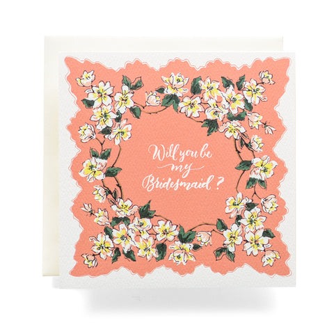 Antiquaria - Handkerchief Bridesmaid Greeting Card