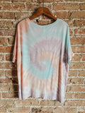 Cotton Candy Swirl Tie Dye Tee