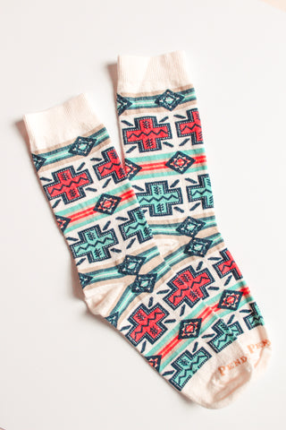 Pendleton Crew Socks - Natural