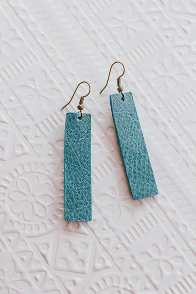 Jones & Lake Leather Strap Earrings