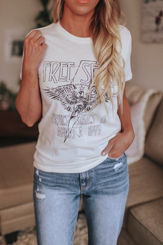 Free spirit graphic tee.