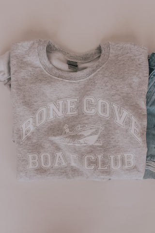 Bone Cove Boat Club Crew Neck Sweatshirt