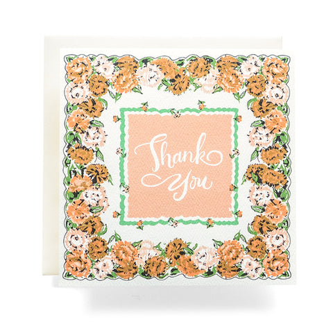 Antiquaria - Handkerchief Thank You Greeting Card