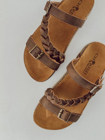 Strappy Braided Sandal