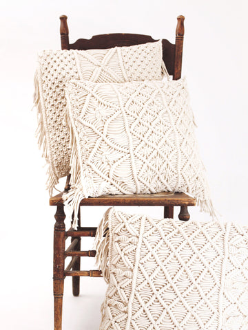 The Macramé Throw Pillow Collection