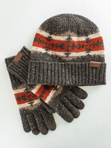 Pendleton Hawkeye Knit Beanie & Gloves