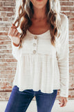Button Front Babydoll Top