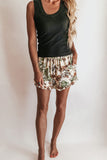 Tropical Floral Print Shorts