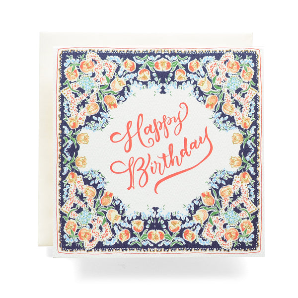 Antiquaria - Handkerchief Happy Birthday Greeting Card