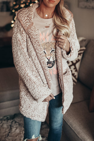 Women's Plush Cardigan. Blush
