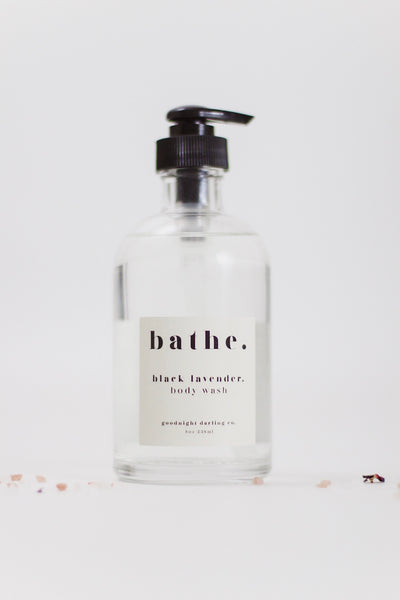 Goodnight Darling Co. Black Lavender Body Wash & Deep Detox Bath Soak