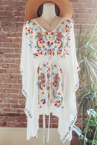 Embroidered Tunic Poncho