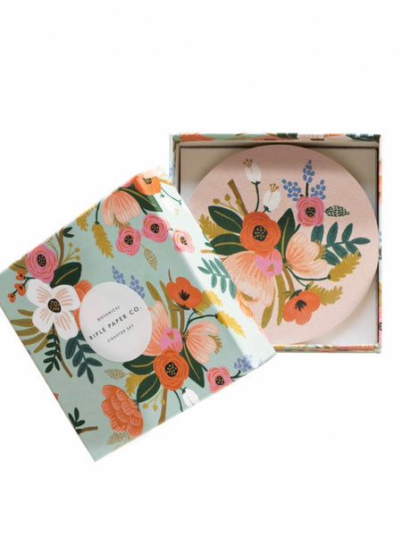 Rifle Paper Co. Lively Floral Coaster Set
