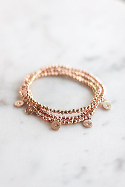 Dainty Triple Layer Beaded Bracelet