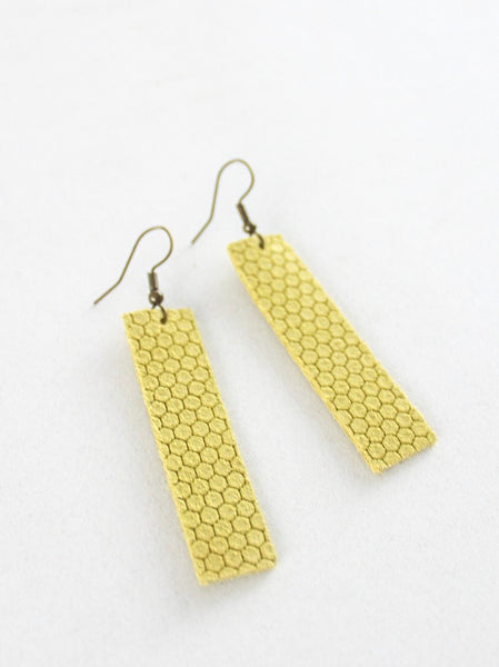 Jones & Lake Honeycomb Strap Earrings