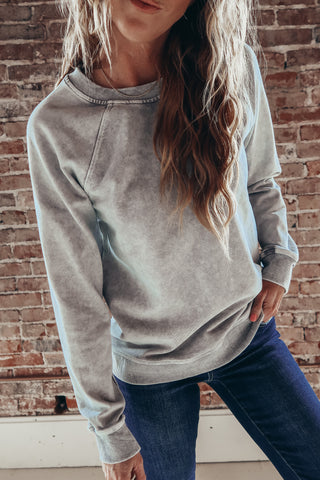 gray casual sweatshirt.