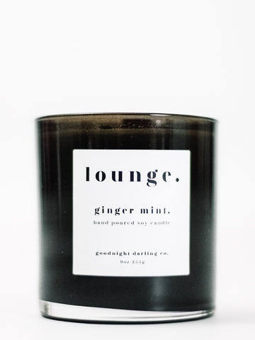 Goodnight Darling Co. Ginger Mint Wooden Wick Candle