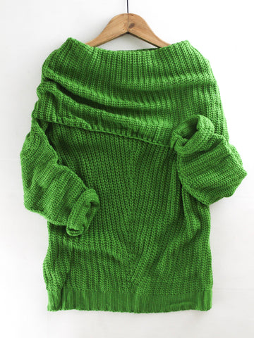 Fold Over Ribbed Sweater